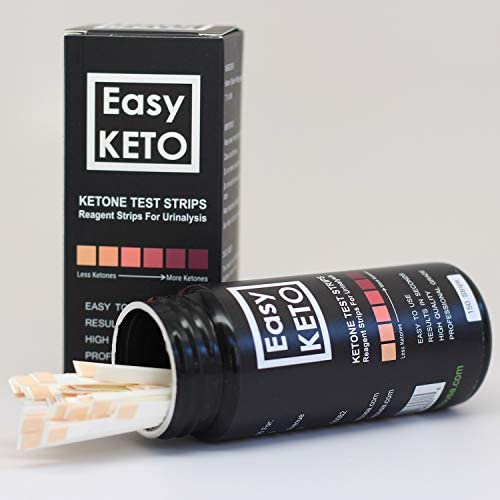 Easy Keto Ketone Testing Strips: For Urinalysis 150 High Grade Test Sticks Accurately Measure Urine Level For Ketones Perfect For Ketogenic Paleo Low Carb and Atkins Diets and Monitoring Ketosis 6
