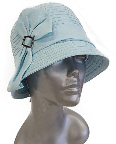Swan Hat, Women's Tie Bow Coffee Ribbon Packable
