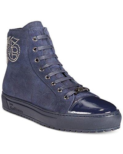 John Galliano Heren Ultra Suede Hightop Sneakers Us 7.5 Eu 40.5 Blue