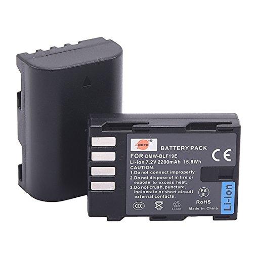 DSTE Replacement for 2X DMWBLF19 DMW-BLF19E DMW-BLF19PP Li-ion Battery Compatible Panasonic Lumix DMC-GH3 GH3A GH3AGK GH3GK GH3H DC-G9GK-K Lumix G9 Camera