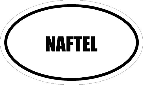 "6"" printed NAFTEL name oval Euro style MAGNET for any metal surface"