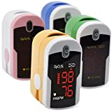 Concord Topaz Fingertip Pulse Oximeter with Reversible Display, Carrying Case and Lanyard