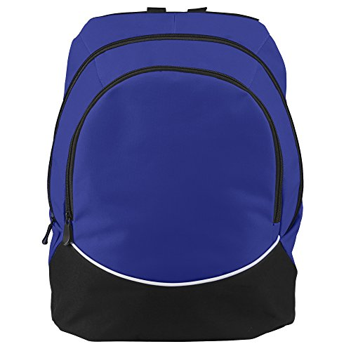 Augusta Sportswear Large Tri-Color Backpack, One Size, Purple/Black/White (Sport Tri Color Bag)