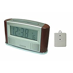 LS&S Talking Atomic Clock with Outdoor Temperature