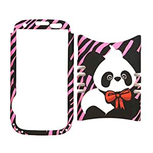 Unlimited Cellular Rocker Snap-On Case for Samsung Galaxy S3 (Panda on Pink Zebra)