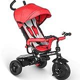 besrey Trike Kids 4 in 1 Tricycle 3 Wheel Baby Bike with Push Handle - Red