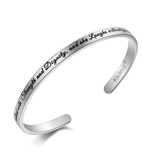 SOLOCUTE Memories Bracelet Engraved Inspirational product image