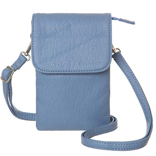 MINICAT Roomy Pockets Series Small Crossbody Bags Cell Phone Purse Wallet For Women(Light Blue)