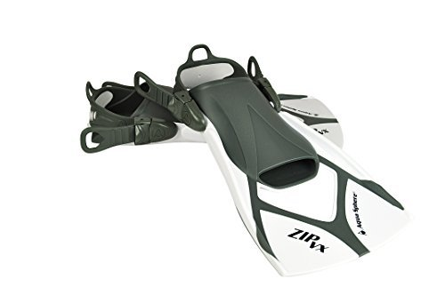 Gym Sphere Aqua Aqua (Aqua Sphere Zip VX Swim Training Fins - Black/Grey, Large/Size 10 - 13 by Aqua Sphere)
