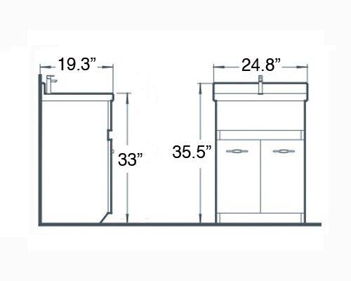 sink ALEXANDER 24'' OAK Utility Sink - OAK Modern Mop Slop Tub Deep Sink Ceramic Laundry Room Vanity Cabinet Contemporary Hardwood Hard wood by www.LuxuryModernHome.com (Image #5)