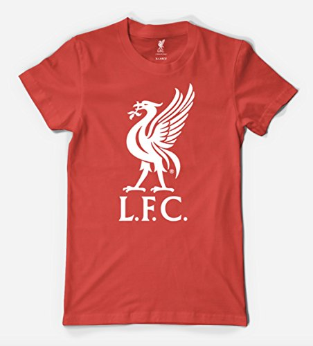 Anfield Shop Liverpool FC Liverbird T Shirt (RED, Small) - Golf Screen Print Cap