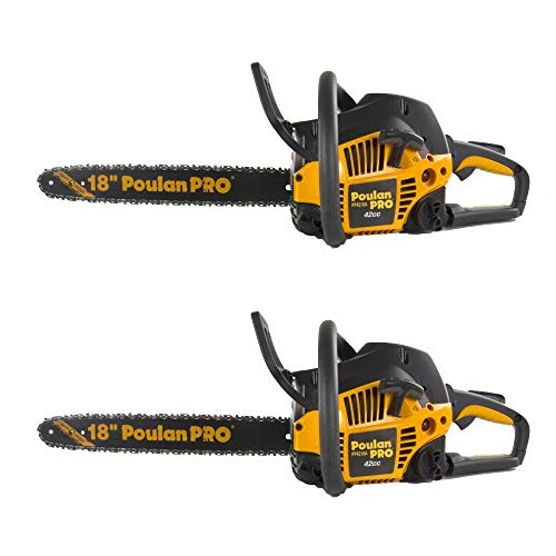 Poulan Pro PP4218A 18″ 42CC 2 Cycle Gas Chainsaw (Pair) (Certified Refurbished)