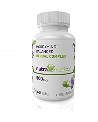 Mood + Mind Support † Balanced Herbal Complex - Huperzine A, Theobromine, 5 HTP, Passion Flower, Gotu Kola and more - 60 Capsules - Guaranteed 100% Made in USA under GMP.