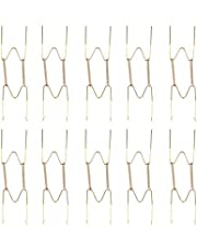 Amosfun Wall Decorations for Living Room 10pcs 8 Inch Spring Style Invisible Plate Tray Dish Wire Hanger Holders Wall Decoration (Golden)
