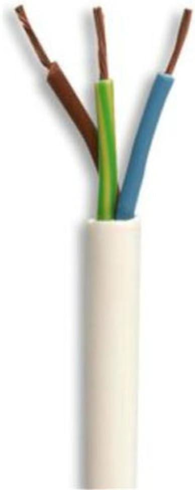 blancos y flexibles 3/n/úcleos de cable redondos rollo completo y corte personalizado en varias longitudes disponibles. cable flexible