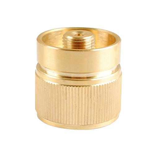 Wadoy Camping Stove Adapter,LPG Adapter Convert 1LB Propane Small Tank Input and a Lindal Valve EN417 Output
