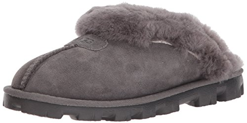 UGG Women's Coquette Grey Slipper - 8 B(M) US]()
