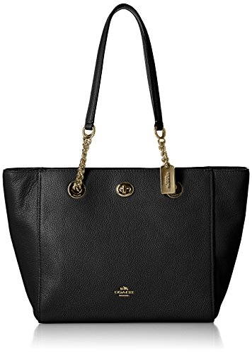 COACH Polished Pebbled Leather Turnlock product image