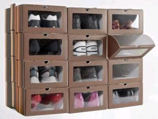 Caja de Zapatos con Ventana Transparente. Set 12 Cajas. Apilables ...