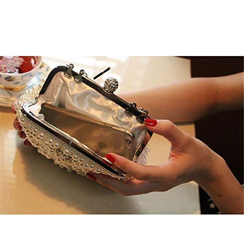 Bandoulière Mariée Sac Élégant Blanc Perle D'embrayage Pour Formelle Soirée Main Cocktail Sacs Les Femmes Femme De À q6B7xwqH