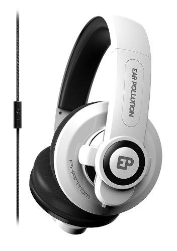 iFrogz EP-PHT-WHT Earpollution Phantom Headphones with Mic - White