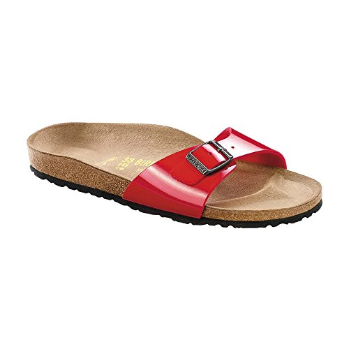 Birkenstock Women's Madrid Sandal,Tango Red,38 N EU / 7-7.5 2A(N) US Women (Sport Sandals Smoke)