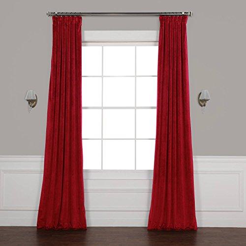 Half Price Drapes VPYC-179758-96 Heritage Plush Velvet Curtain, 50 x 96, Cinema Red