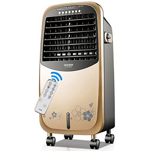 Air Conditioning Unit Cold/Warm Fan PTC Heating Ice Crystal Refrigeration Humidification Low Noise, Cooling Power 75W (Color : Gold, Size : 34 x 23 x 72CM)