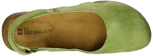 El Naturalista Damen N413 Pleasant Wakataua Closed-Toe Sandalen Grün (Green)