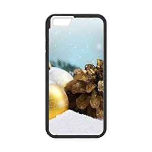 Pine Cone Golden Christmas Balls iPhone 6 Plus 5.5 Inch Cell Phone Case Black Delicate gift AVS_669102