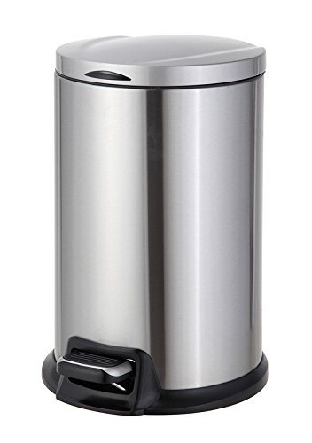 Home Zone 12-Liter Stainless Steel Round Step Trash Can by Home Zone (Image #4)