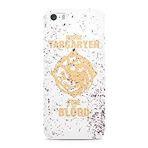 Loud Universe Game of Thrones House Tragaryen Fire And Blood Modern Wrap Around iPhone SE Case - White