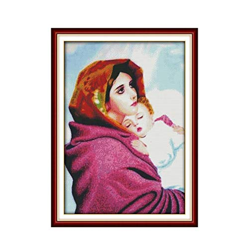 Artsy Gift Immaculate Conception 11CT 14CT Calico Cross Stitch Kit Pattern Jesus Christian Handmade Sewing Embroidery
