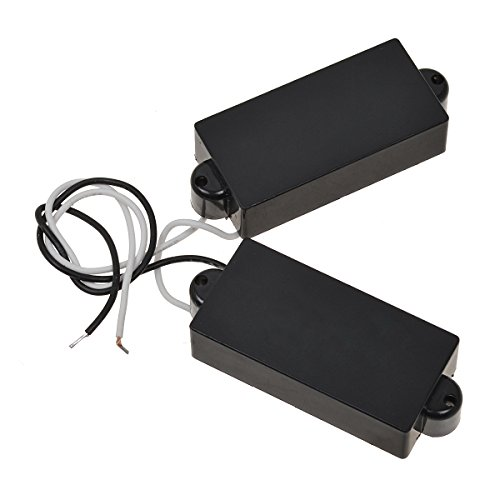 Black 4 String Electric Pickup Humbucker For Precision Bass Guitar 1 Pair From Kmise ()