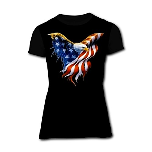 LXT_Yi_Manx Eagle 4th Of July Customized 3D Printing Women's Short-Sleeve T-Shirt - Of July Shirt Diy Fourth