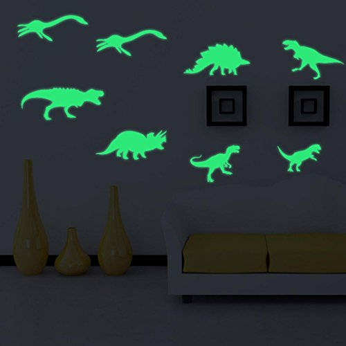 Malltop Luminous Dinosaur Wall Stickers Kids Room Decor Fluorescent Gift