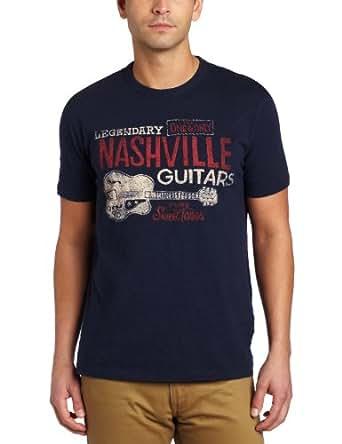 Lucky Brand Men's Nashville Guitars Graphic Tee, American Navy, Small