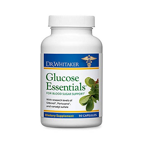 Dr. Whitaker's Glucose Essentials Blood Sugar Management Supplement, 90 Capsules (30 Day Supply)
