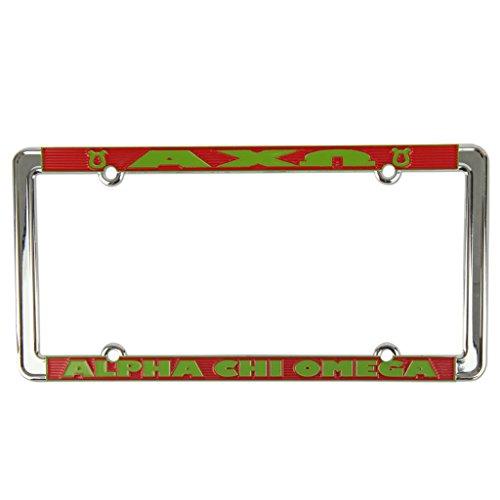 Omega License Plate Frame - Alexandra And Company License Plate Frame, Alpha Chi Omega