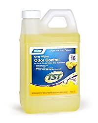 Camco Tst Lemon Scent Rv Grey Water Odor Control, Stops Sink Trap Odors, For Use In Drains, Sink Traps & Waste Vents, Treats Up To 16 - 40 Gallon Holding Tanks (64 Ounce Bottle)