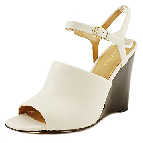 Calvin Klein Pirra Women US 9.5 White Wedge Sandal