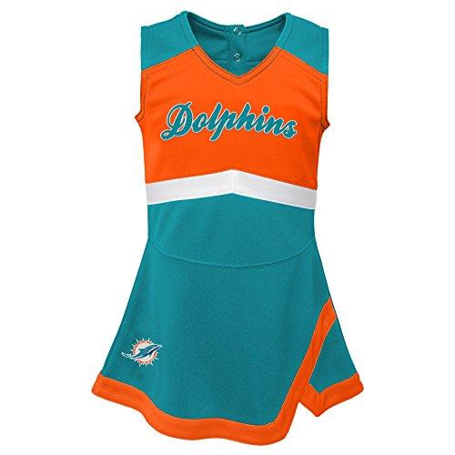 - Outerstuff NFL NFL Miami Dolphins Infant Cheer Captain Jumper Dress Aqua, 24 Months