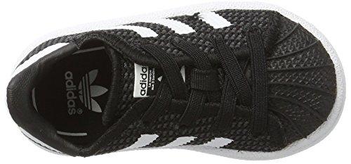 adidas Unisex Baby Superstar Sneaker Schwarz (Core Black/footwear White/footwear White)