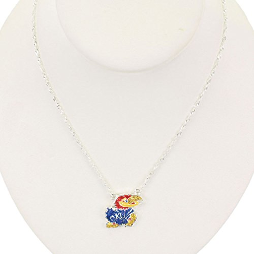 Kansas Jayhawks Crystal Logo Necklace