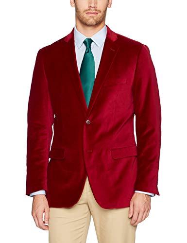 U.S. Polo Assn. Men's Velvet Sport Coat, Crimson, 44 Regular ()