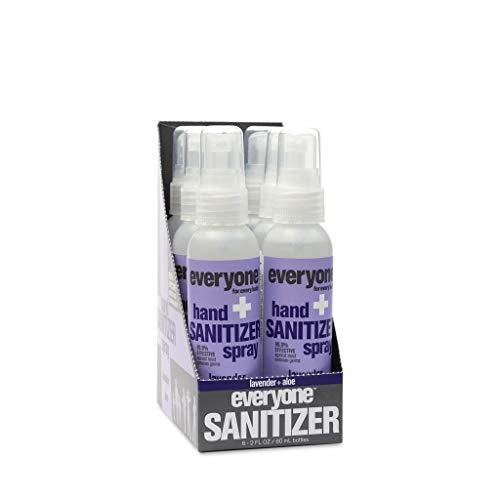 Everyone Hand Sanitizer Spray, Lavender & Aloe, 2oz, 6 Count