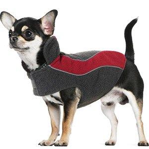 Kakadu Pet Explorer Fleece Reflective Dog Coat, 10″, Flame (Red), My Pet Supplies