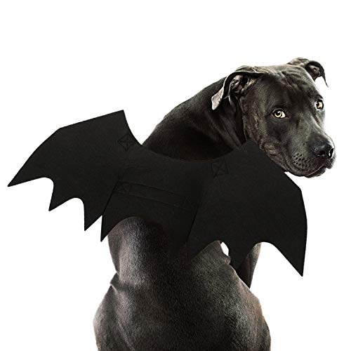 RYPET Dog Bat Costume - Halloween Pet Costume Bat Wings Cosplay Dog Costume Pet Costume for Party L