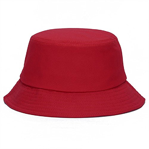 Womens Floppy Summer Sun Beach Cotton Hat With Fency Floral UPF50 Foldable Wide Brim Sun Hat (red)