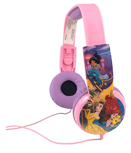 Disney Princess Kids Safe Headphones with Built in Volume Limiting Feature for Safe Listening - Age 3 to 12